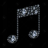 9569636-diamond-music-note-on-black-background-stock-vector